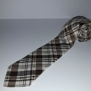 Ted Baker London Cotton/Silk Tie Brown/White/Gray